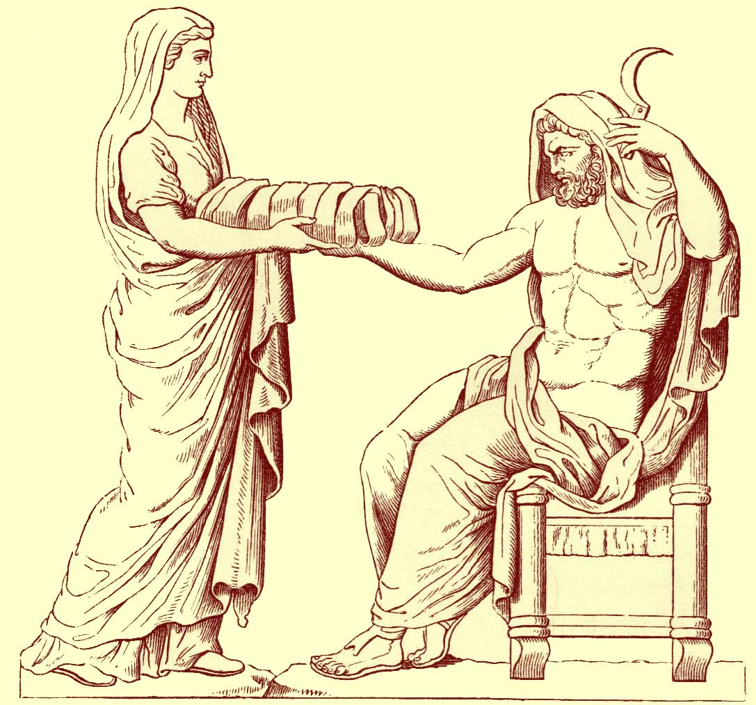 Cronus casts Uranus from his
