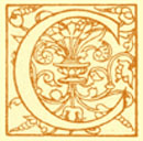 Block Print of the decorated letter C