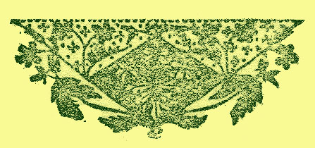 stylized trinagular border print of flowers