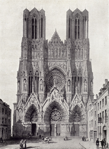 Rheims Cathedral West Front From Beautiful Buildings In